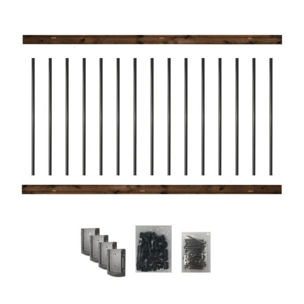 36RKB - 6' LONG PRE-DRILLED PRESSURE-TREATED WOODEN RAILING KIT