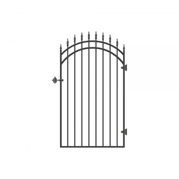 """DGI0140 - 33"""" x 68"""" DIAMOND-TOPPED ORNAMENTAL IRON GATE - DGI0140"""