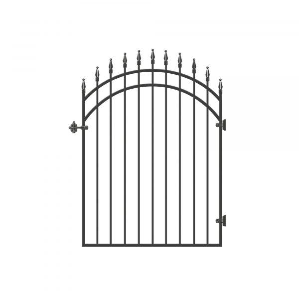 """DGI0141 - 45"""" x 68"""" DIAMOND-TOPPED ORNAMENTAL IRON GATE - DGI0141"""