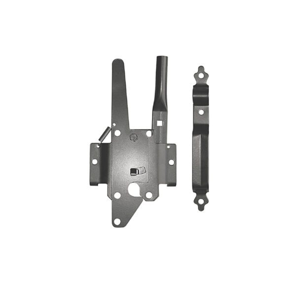 DTPLUH - BLACK GALVANIZED STEEL DELUXE TRADITIONAL POST LATCH - GATE HARDWARE
