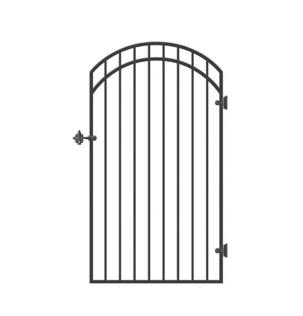 "GGI0440 - 33"" x 68"" SMOOTH-TOPPED ORNAMENTAL IRON GATE"