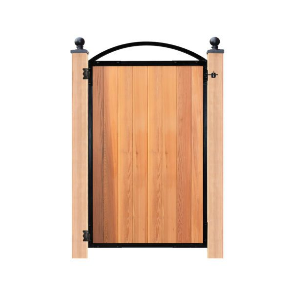 """PRO8 - STRONG BLACK GATE FRAME FOR A 47"""" WIDE OPENING WITH REMOVABLE ARCH - PRO8"""