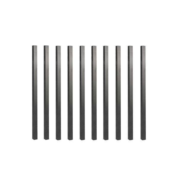 """SQPS26 - 26"""" LONG x 3/4"""" WIDE BLACK SQUARE TUBING GALVANIZED STEEL BALUSTERS (10 PCS)"""