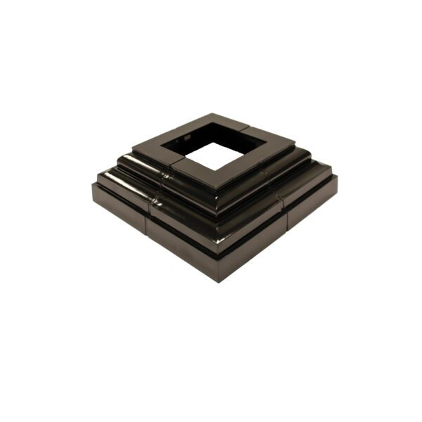 UPPC - BLACK PLASTIC DECORATIVE POST PLATE COVER
