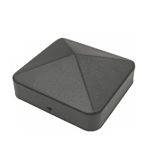 "US-PCP11BLK - 3 ½"" x 3 ½"" BLACK EAZY-CAP™ PATENTED PYRAMID USA POST CAPS"