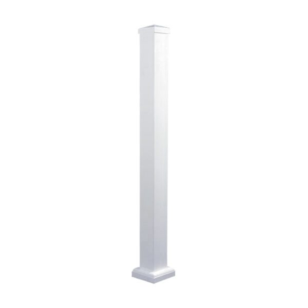 """WHPOP33 - 33 3/4"""" HIGH WHITE ALUMINUM SURFACE MOUNT IN-LINE POST"""