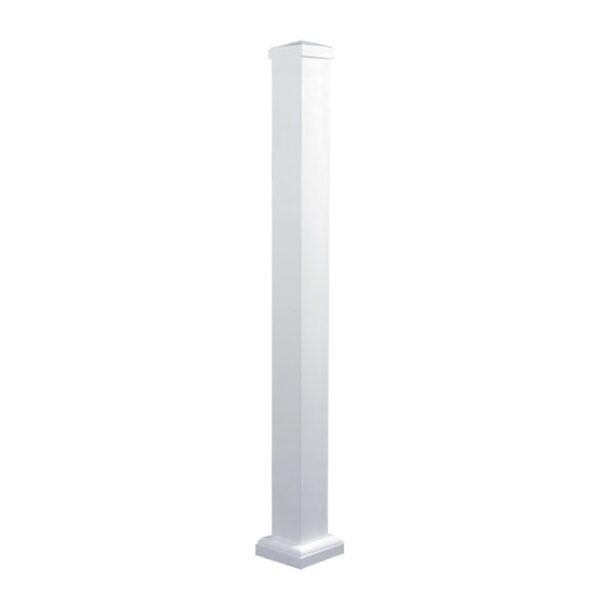 """WHPOP39 - 39 3/4"""" HIGH WHITE ALUMINUM SURFACE MOUNT POST"""