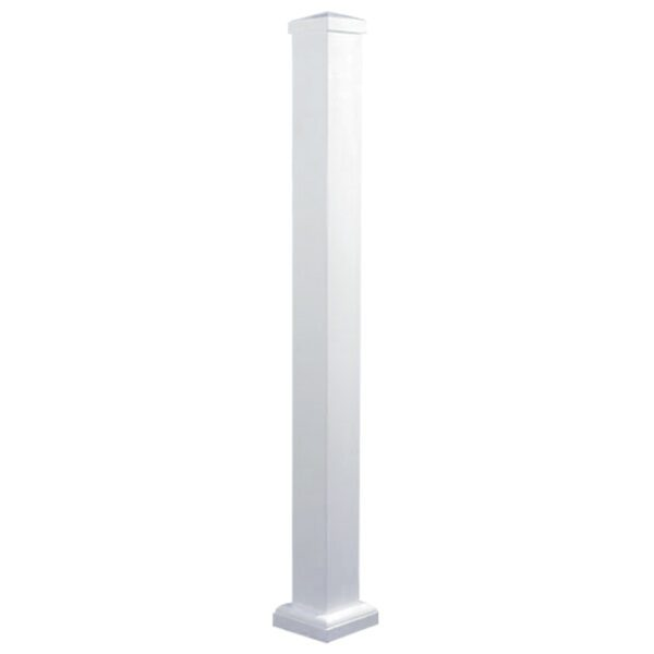 """WHPOP44 - 44"""" HIGH WHITE ALUMINUM SURFACE MOUNT POST"""