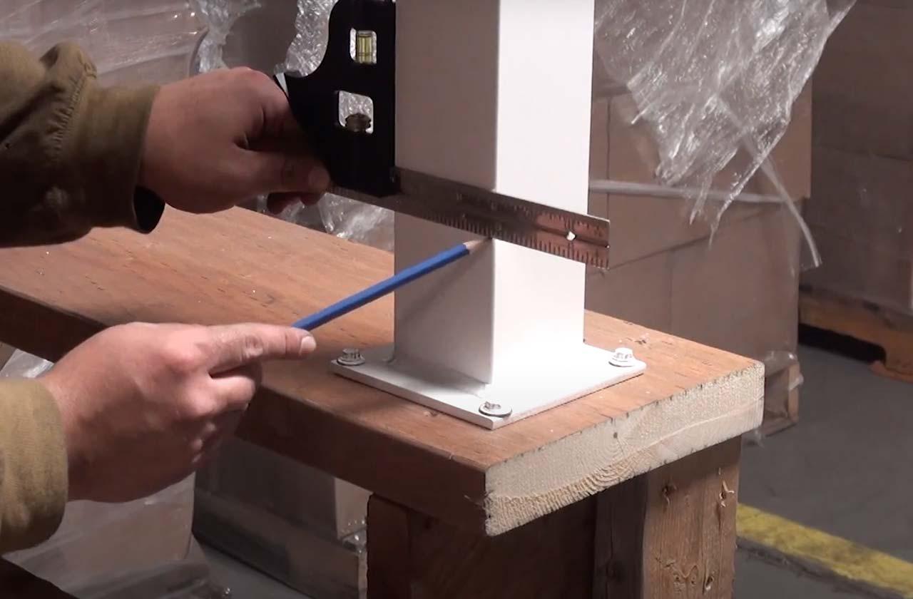 Aluminum Railing Instruction: Stair Railing